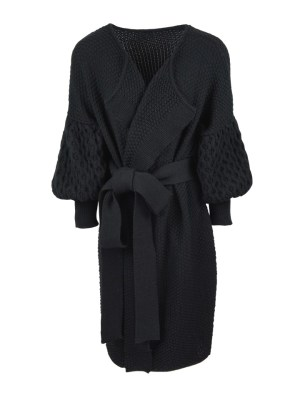Black mohair knitted coat South Africa