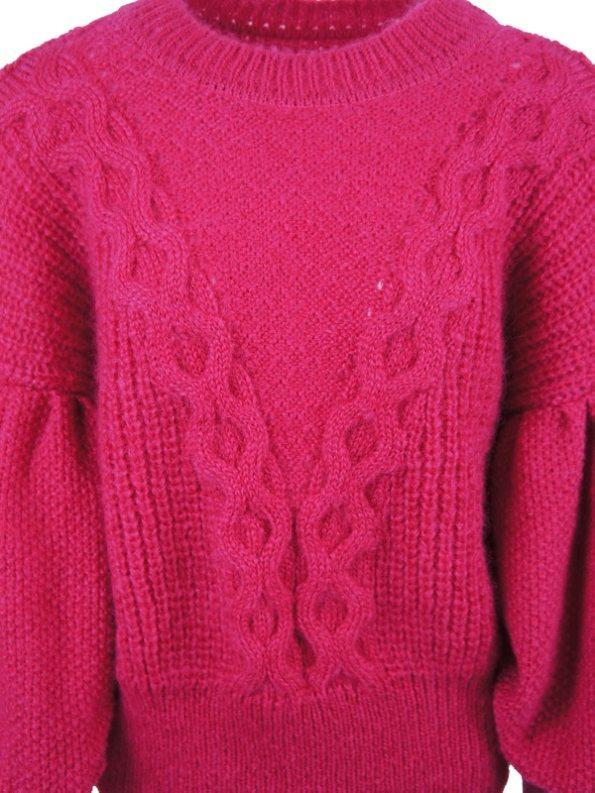 Erre Knitted Jersey Pink Mohair Blend Detail