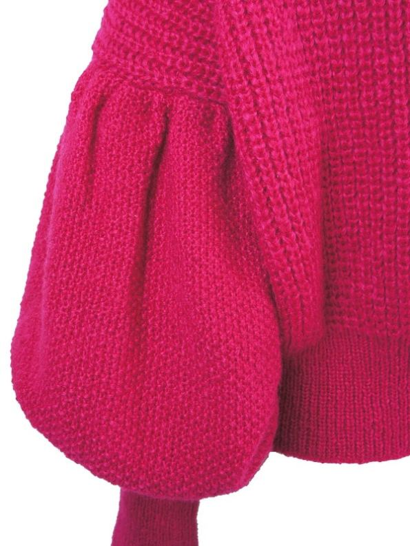 Erre Knitted Jersey Pink Mohair Blend Sleeve
