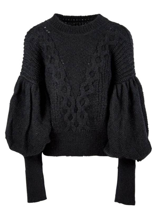 Erre Knitted Sweater Black Mohair Blend