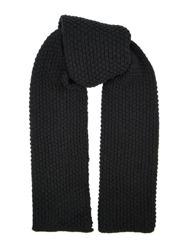 Erre Knitted Wrap Black Mohair