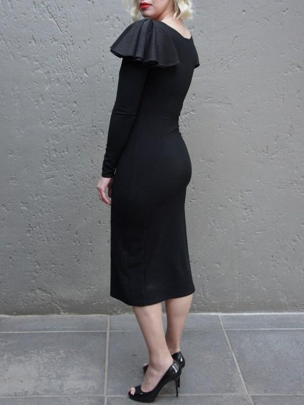 Erre Pencil Evening Dress Black Back
