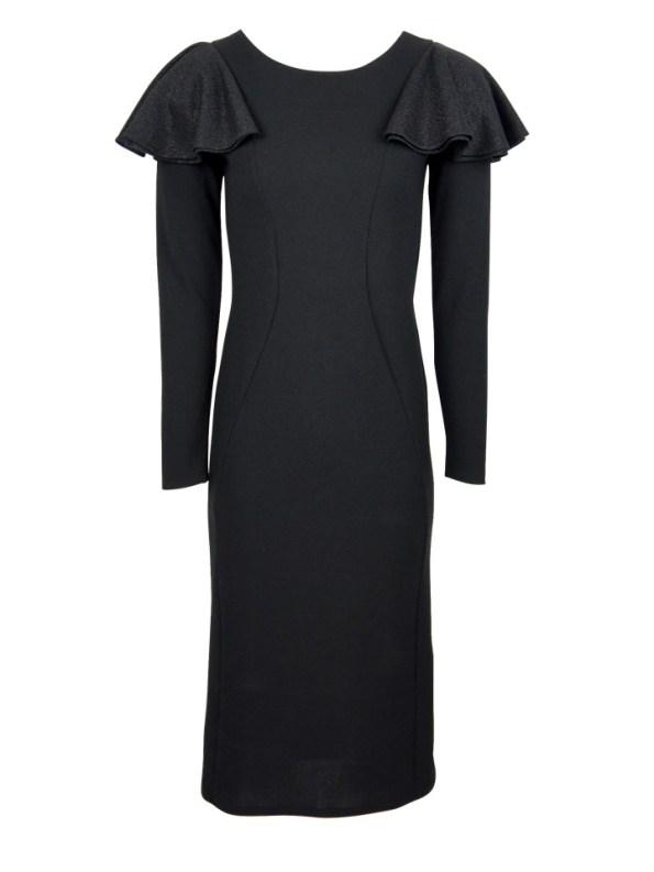 Erre Pencil Evening Dress Black