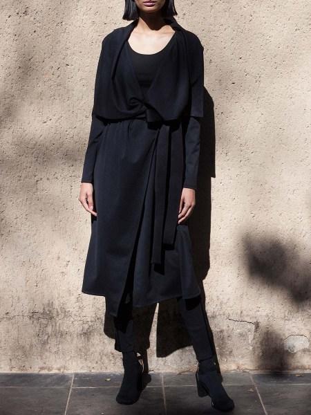Black waterfall coat women's South Africa
