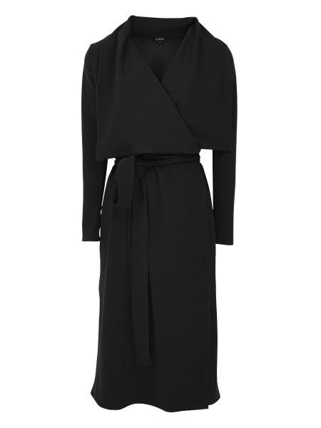 waterfall black women's winter coat