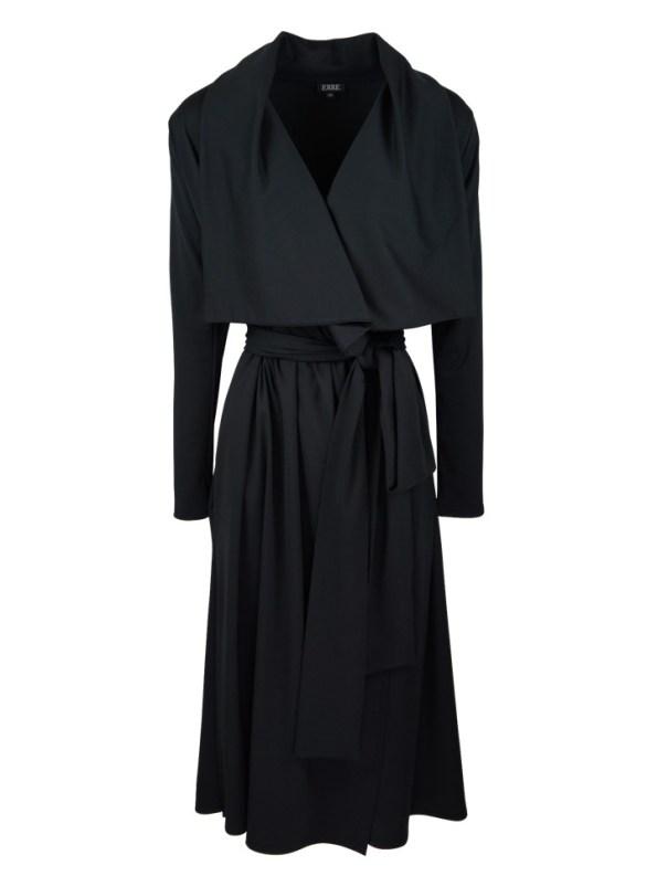 Erre Waterfall Coat Black