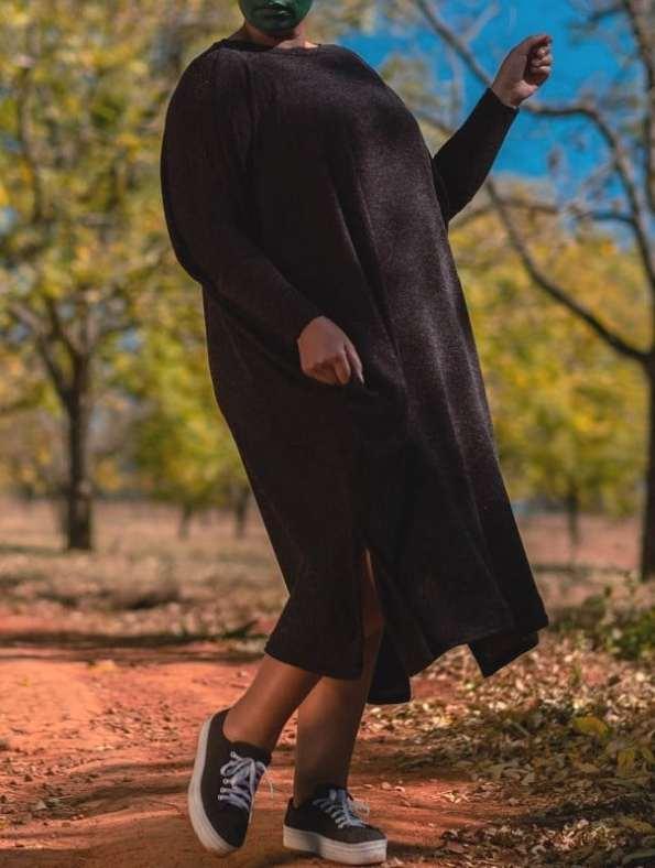 Isabel de Villiers Boxy Knit Dress Black 3