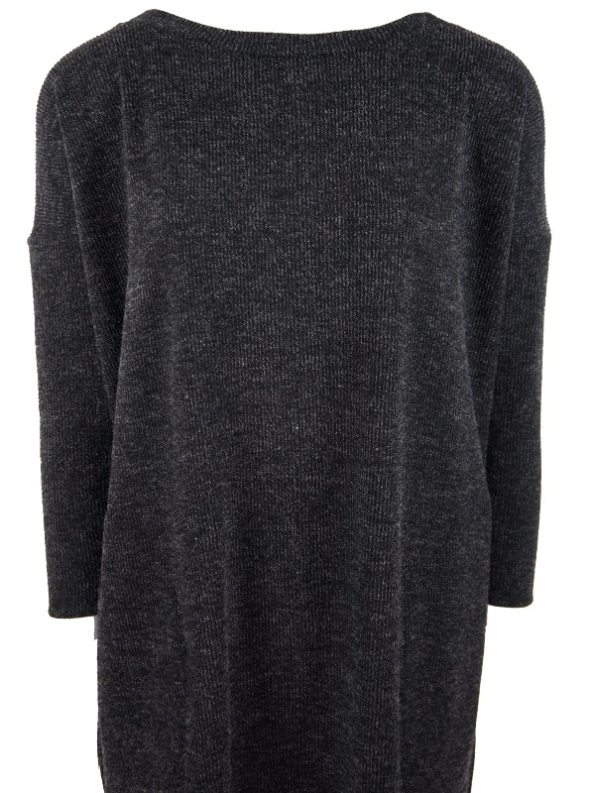 Isabel de Villiers Boxy Knit Dress Black Closeup