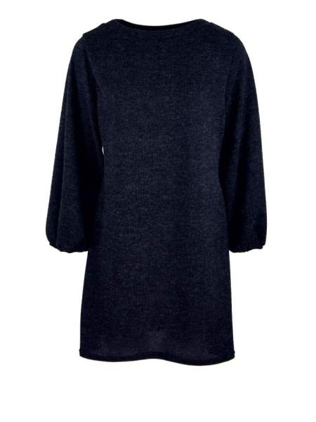 Navy knitted dress balloon sleeves