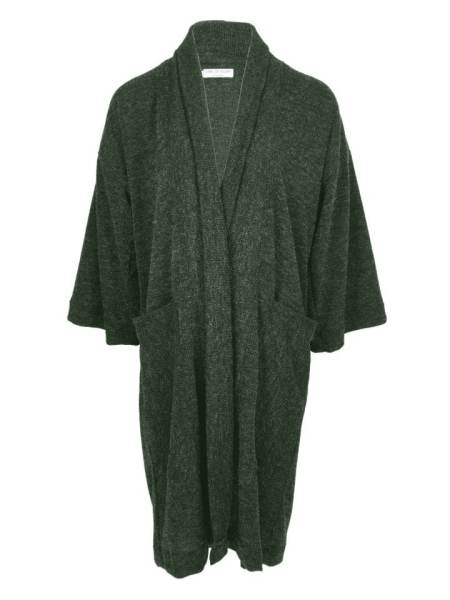 Green long cardigan kimono style jacket knitted South Africa