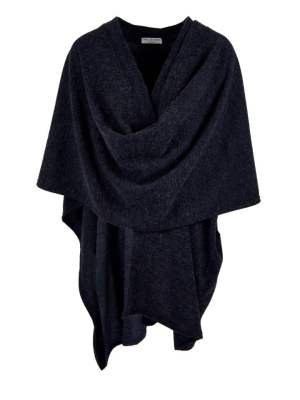 Navy knitted wrap made in South Africa