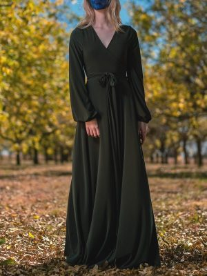 Long dress green maxi dress made in South Africa