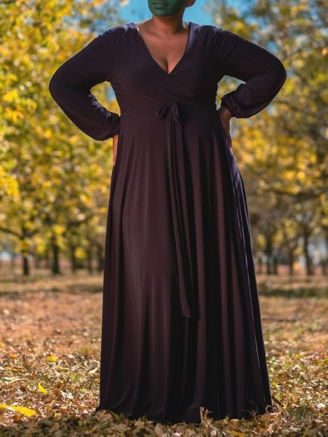 Long dress black maxi dress plus size made in South Africa