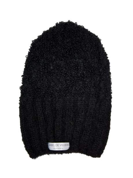 black Mohair Beanie made in South Africa