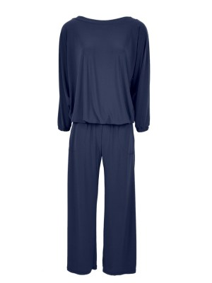 Navy winter Plus size jumpsuit with long sleeves made in South Africa