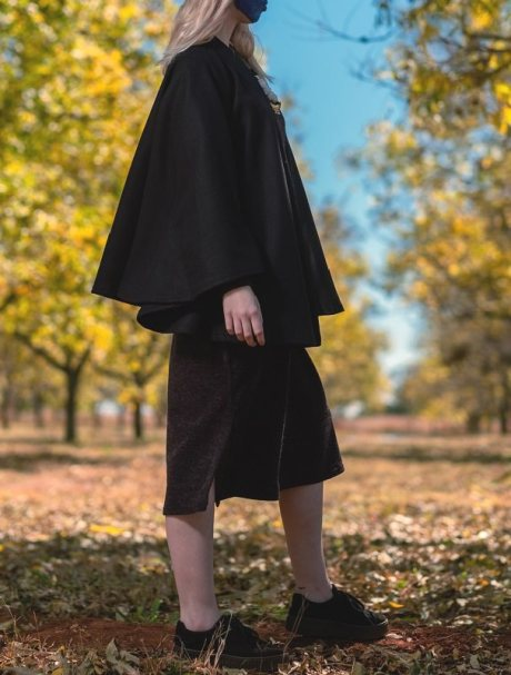 short black cape jacket made in South Africa