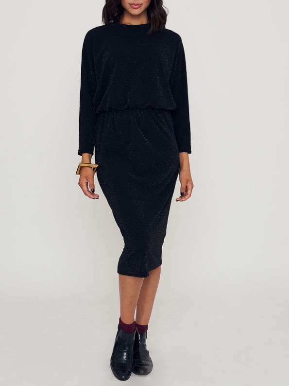 Good Clothing Sphynx Dress Black Sparkle Front 2