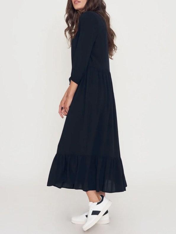 Good Clothing Tea Frill Dress Black Side