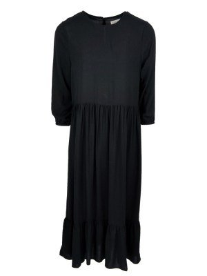 long dress black with frill made in South Africa