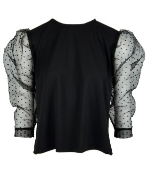 Sheer mesh evening top made in South Africa