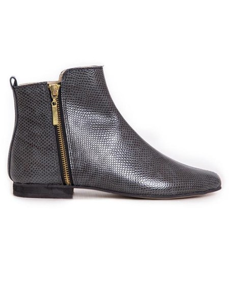 Ladies ankle boots grey snake print from South Africa