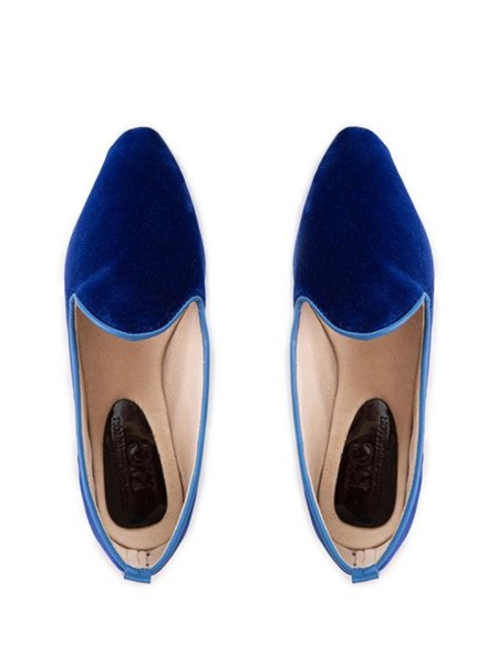 blue velvet loafers ladies flats made in South Africa