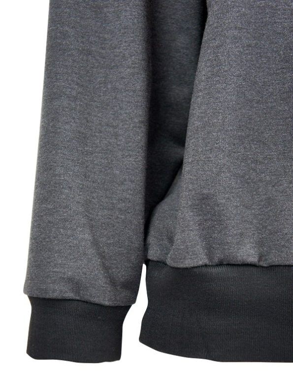 JMVB Athleisure Sweater Charcoal Detail