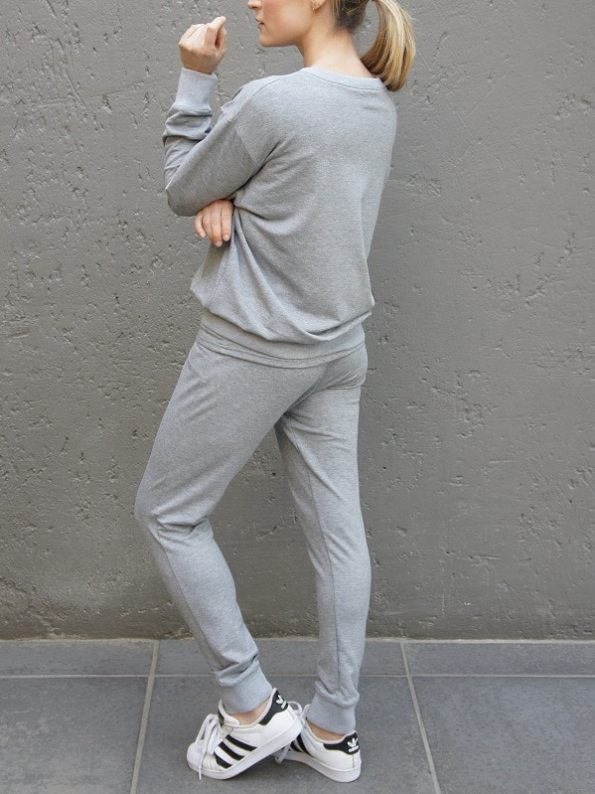 JMVB Athleisure Sweater and Seatpants Grey Back