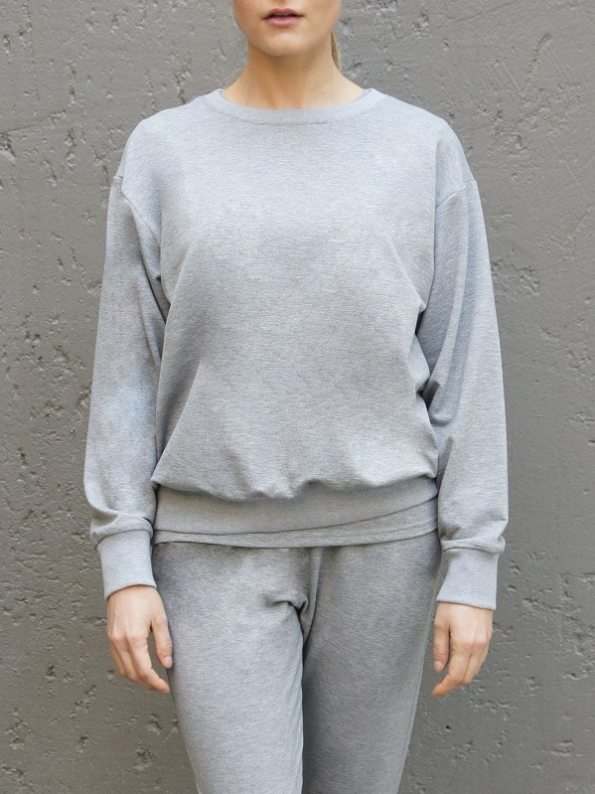 JMVB Athleisure Sweater and Seatpants Grey Cropped