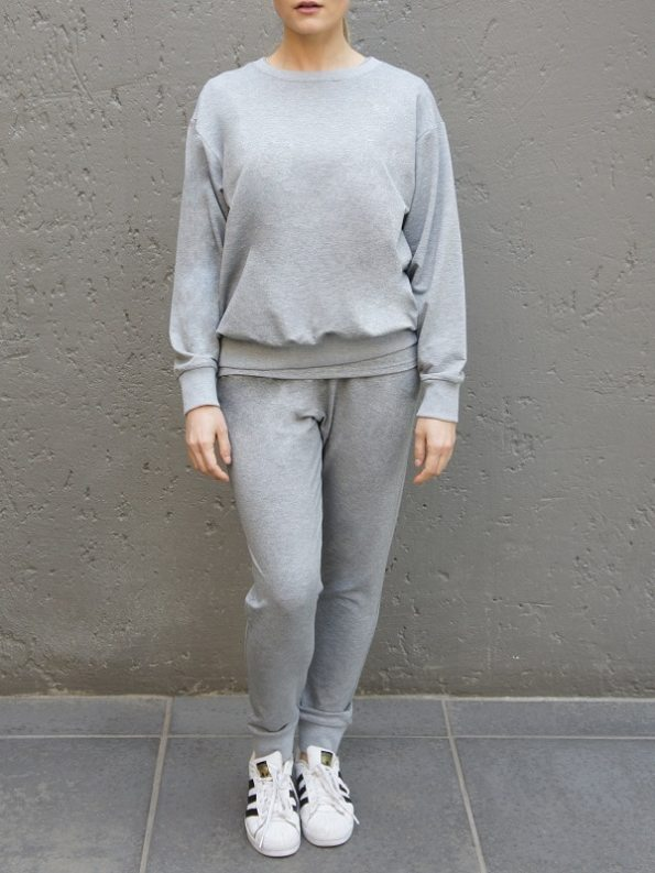 JMVB Athleisure Sweater and Seatpants Grey Front