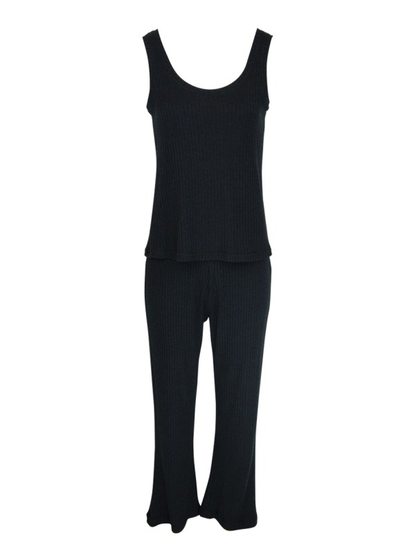 JMVB Lux Loungewear Set with Tank Black