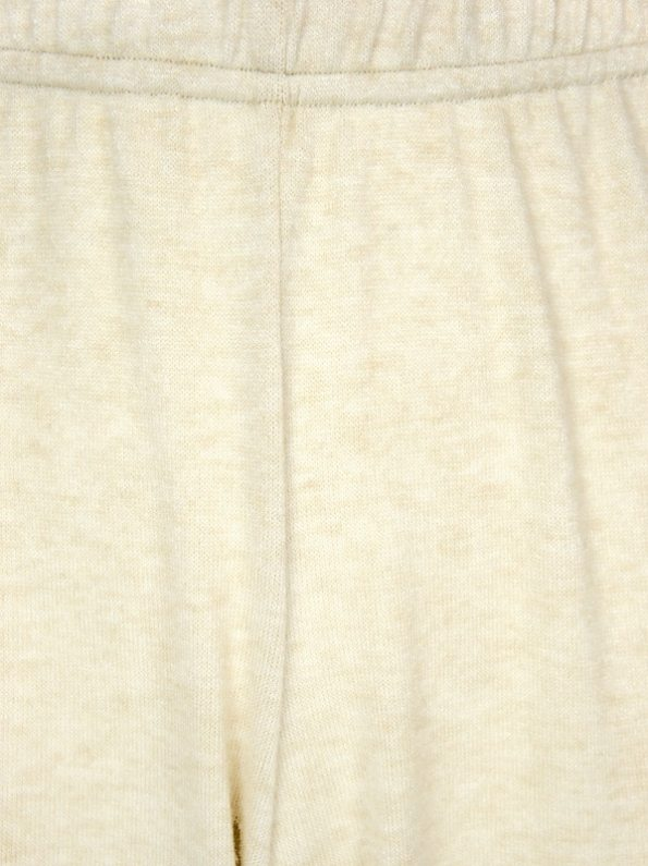 JMVB Luxe Loungewear Pants Beige Closeup