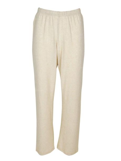 Loungewear pants beige knit