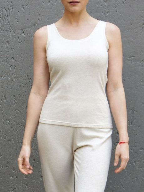 Knitted Tank Top South Africa Beige