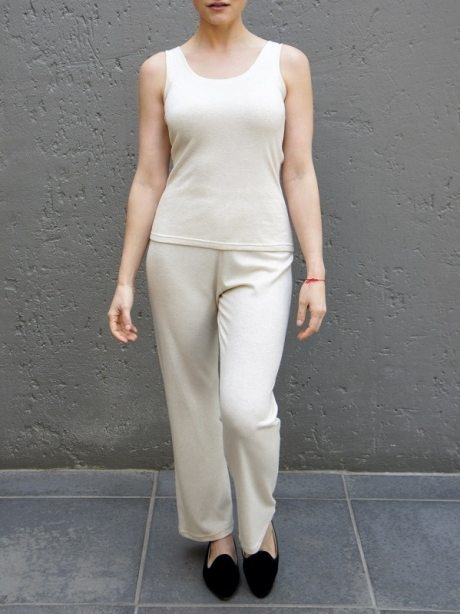 beige tank top with lounge pants South Africa knitted