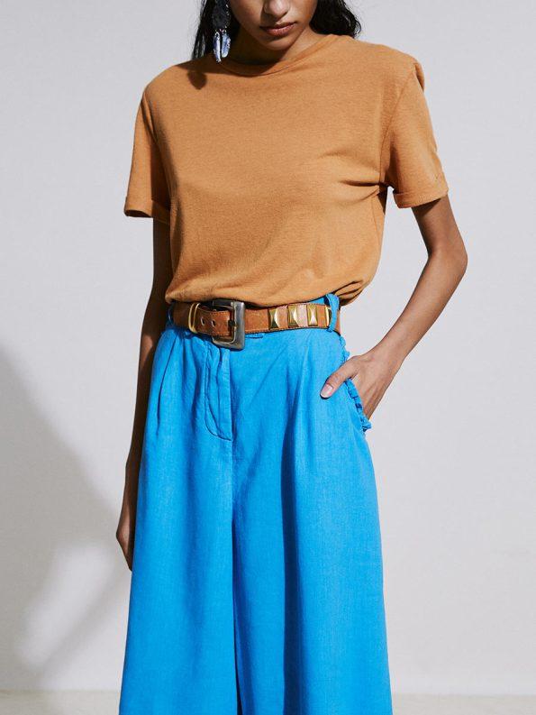 Asha Eleven Hemp T-shirt Chesa and HW Pants Cornflower 1