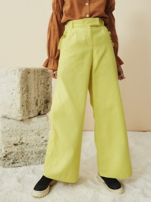 Yellow wide leg pants South Africa