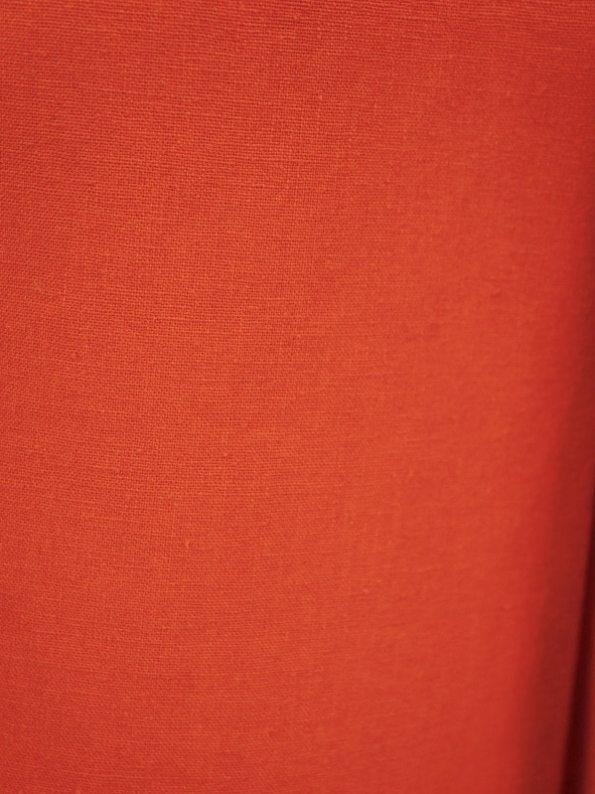 Asha Eleven High Waisted Wide Leg Hemp Pants Tangerine Fabric