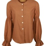 brown hemp blouse with buttons made in South Africa