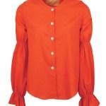 Orange hemp blouse for ladies South Africa