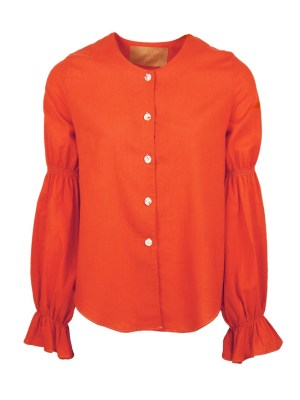 Orange hemp blouse for ladies South Africa