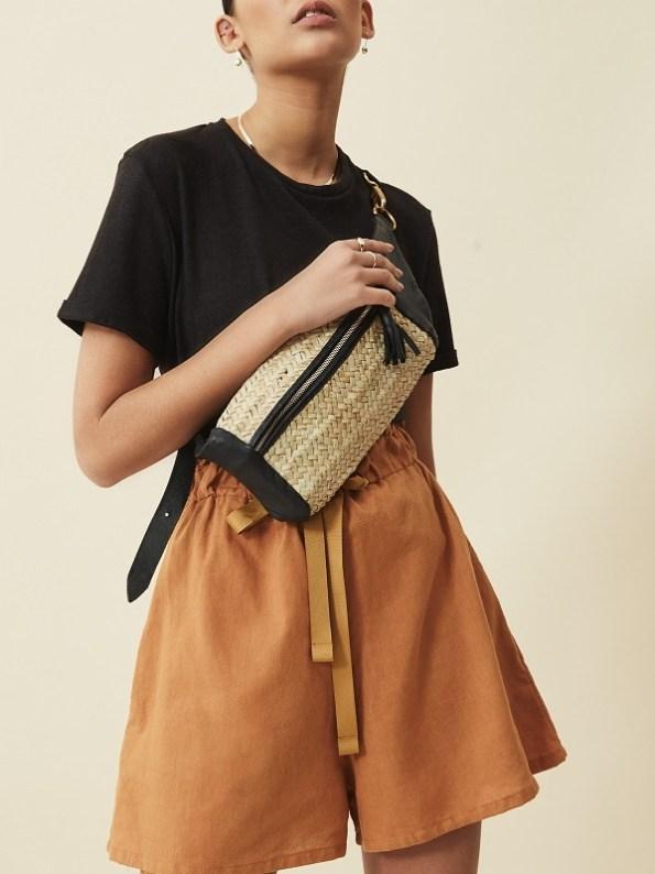 Asha Eleven Salama Hemp Shorts Chesa with Black hemp Tshirt Cropped