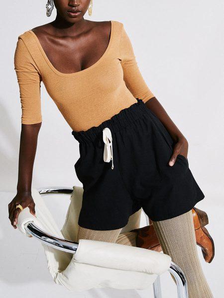 black ladies hemp shorts with bodysuit South Africa
