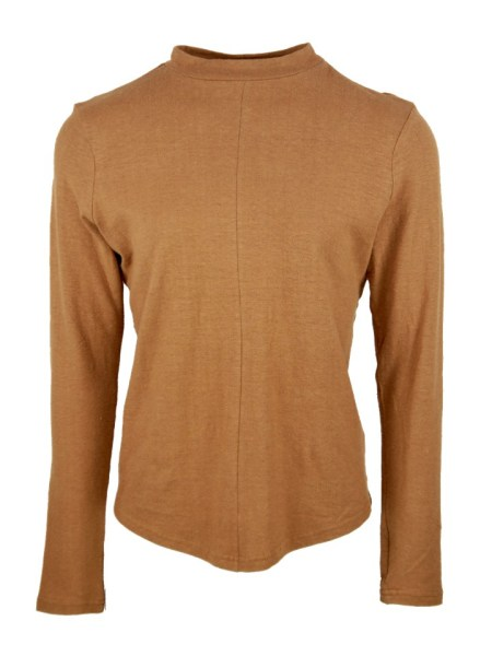 brown hemp long sleeve top from South Africa