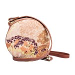 Aureum Oceanum Embroidered Round Bag Coral