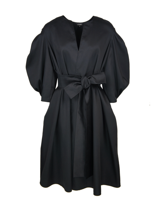 Erre Angle Summer Coat Black