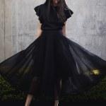 Erre Arch Circle Skirt Black
