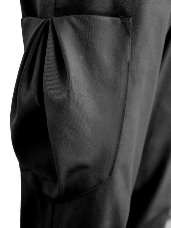 Erre Edge Cargo Pants Black Pocket Detail