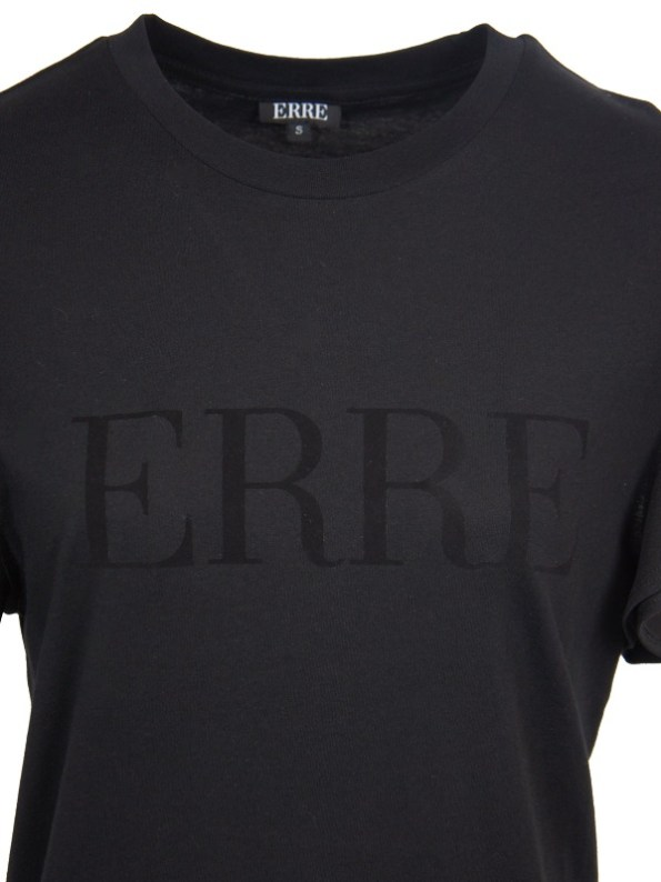 Erre Logo T-shirt black Closeup