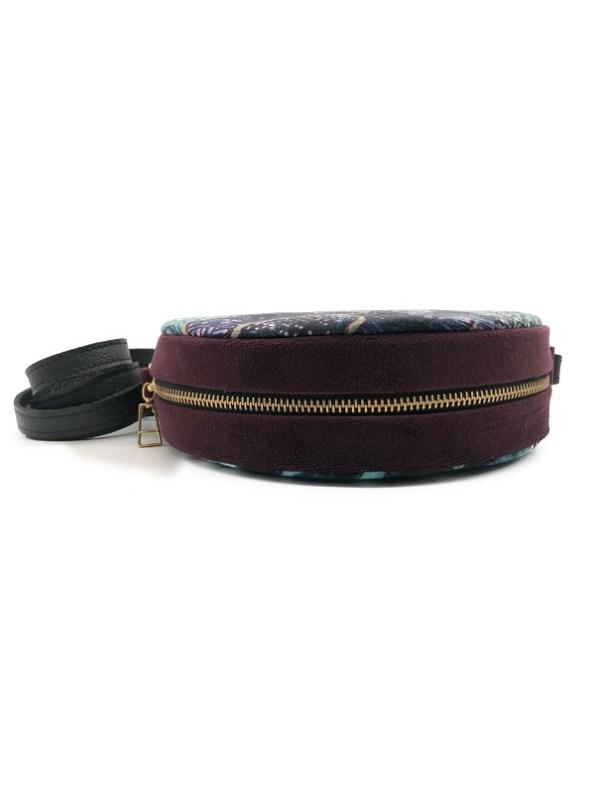 Oceanum Azure Round Velvet Bag Azure Side